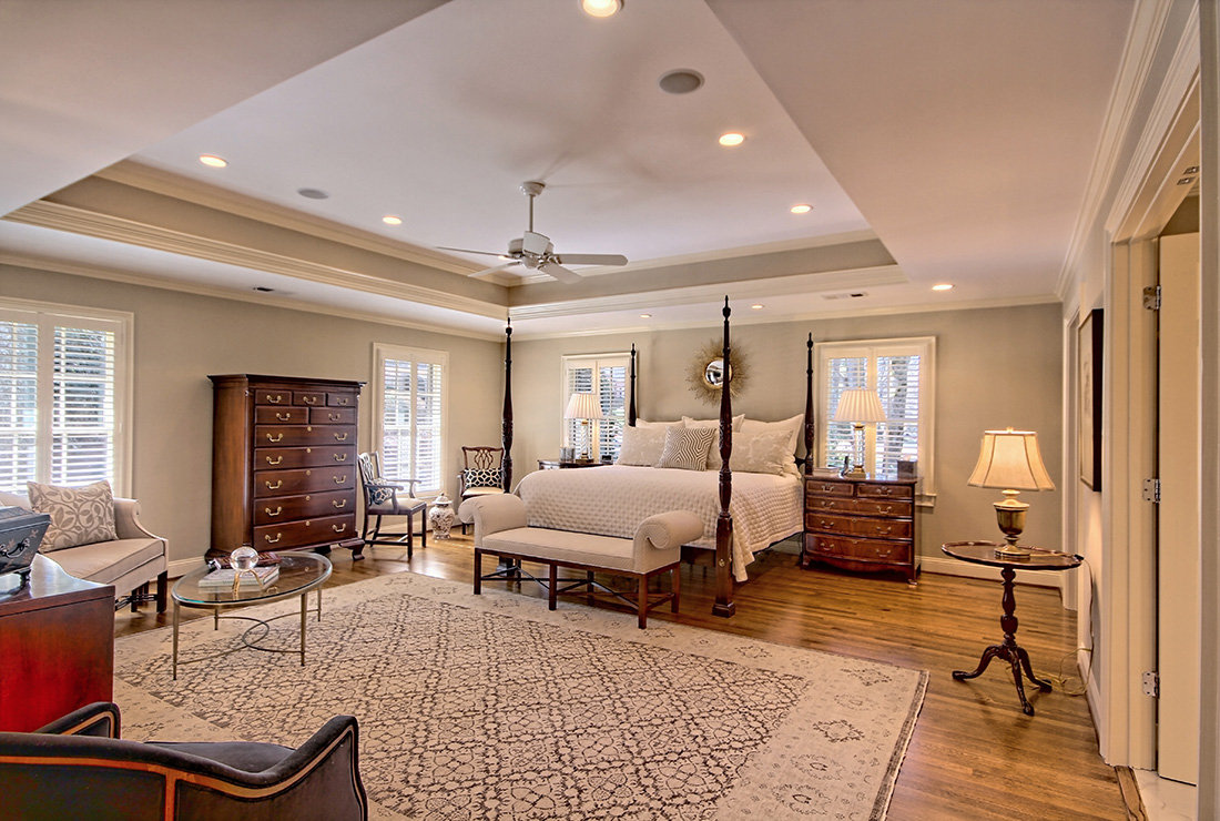 atlanta master suite addition with white schrock cabinetry